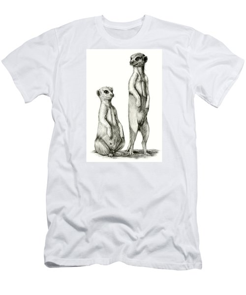 Meerkatte Men's T-Shirt (Slim Fit) by Heidi Kriel