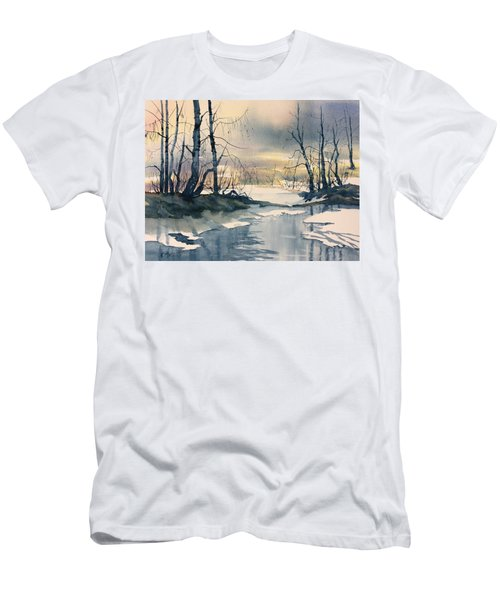 Melt Water On Skipwith Common Men's T-Shirt (Athletic Fit)