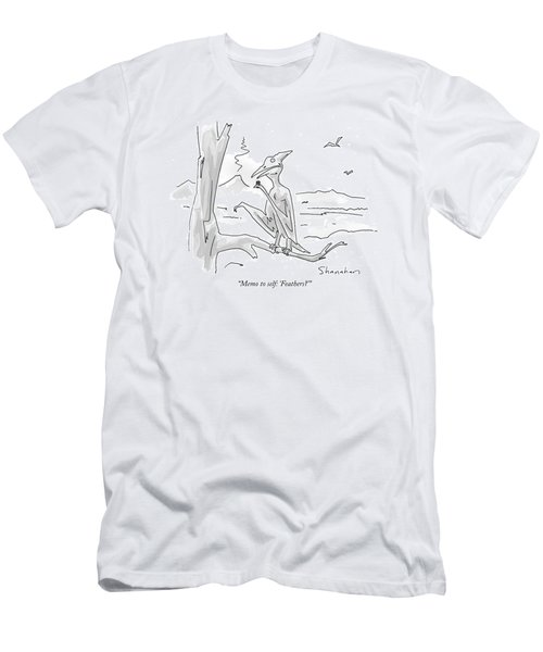 Memo To Self: 'feathers?' Men's T-Shirt (Athletic Fit)
