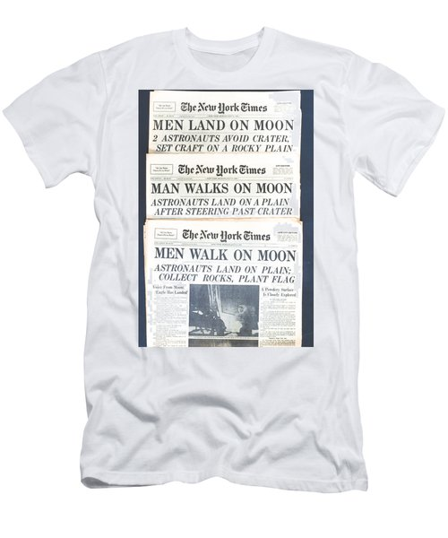 Men Walk On The Moon Men's T-Shirt (Slim Fit) by Kenneth Cole