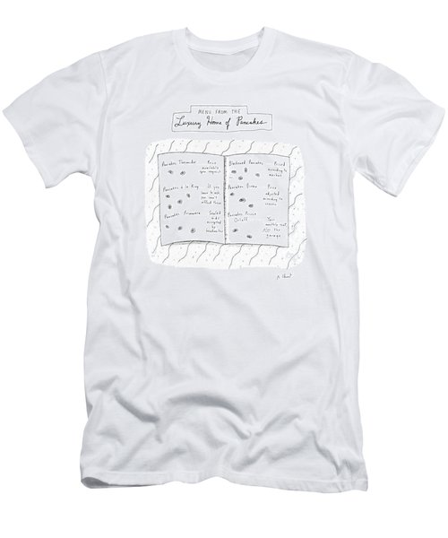 Menu From The Luxury Home Of Pancakes Men's T-Shirt (Athletic Fit)