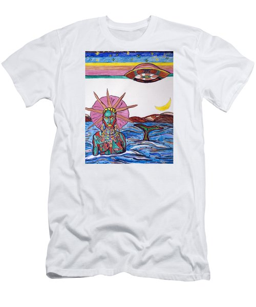 Yemoja Ufo  Men's T-Shirt (Athletic Fit)