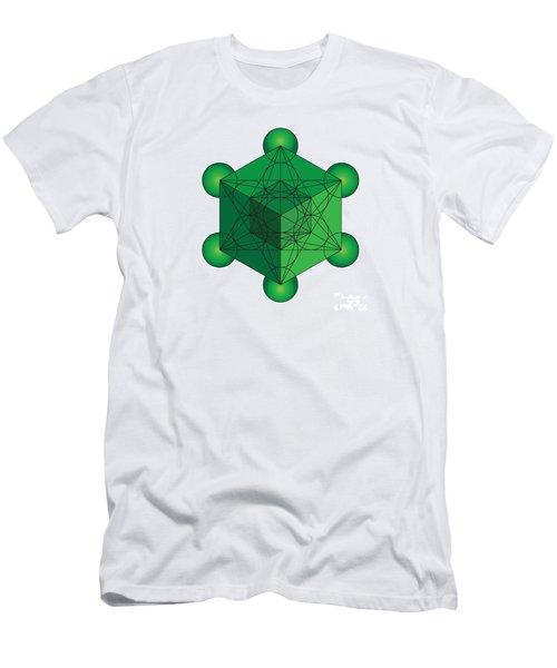 Metatron's Cube In Green Men's T-Shirt (Athletic Fit)