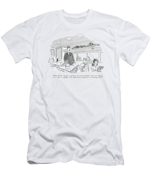 Metro-north Is Proud To Announce That This Men's T-Shirt (Athletic Fit)