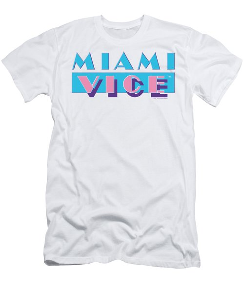 Miami Vice - Logo Men's T-Shirt (Athletic Fit)