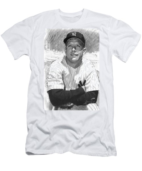 Mickey Mantle Men's T-Shirt (Slim Fit) by Viola El