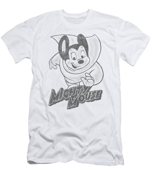 Mighty Mouse - Mighty Sketch Men's T-Shirt (Athletic Fit)