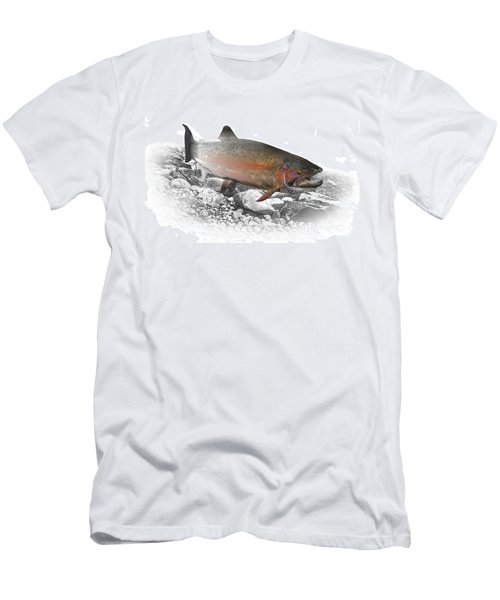 Migrating Steelhead Rainbow Trout Men's T-Shirt (Slim Fit) by Randall Nyhof
