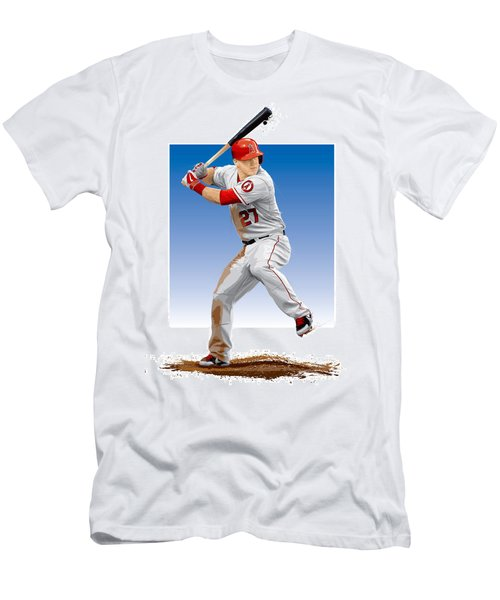Mike Trout Men's T-Shirt (Slim Fit) by Scott Weigner