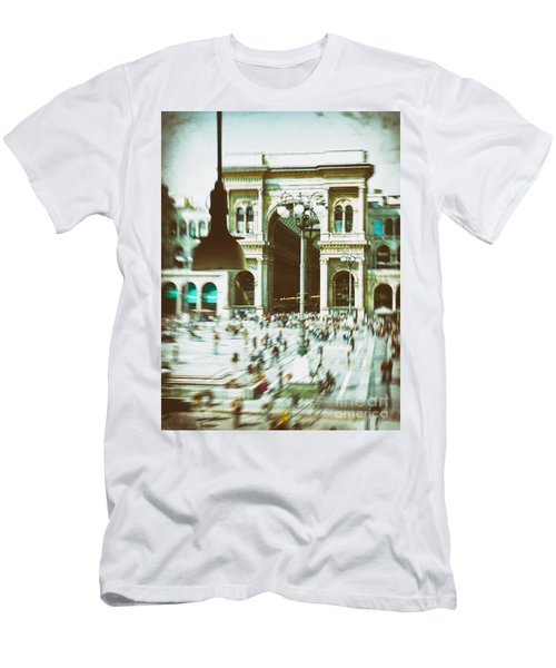 Men's T-Shirt (Slim Fit) featuring the photograph Milan Gallery by Silvia Ganora