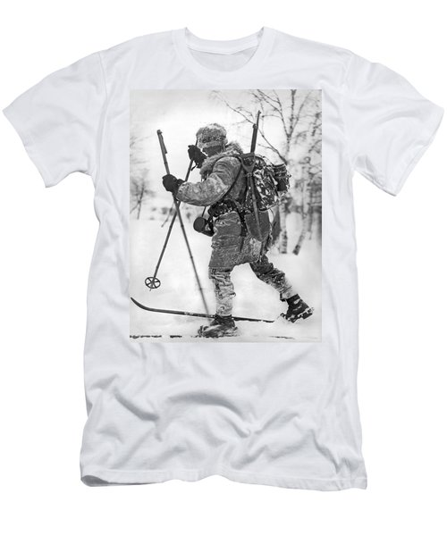2221db2d Military Cross Country Skiing Men's T-Shirt (Athletic Fit)