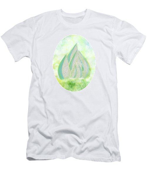 Men's T-Shirt (Slim Fit) featuring the drawing Mini Forest Illustration by Lenny Carter