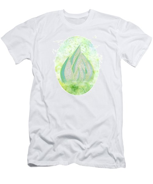 Men's T-Shirt (Slim Fit) featuring the drawing Mini Forest With Birds In Flight - Illustration by Lenny Carter