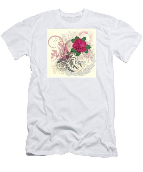 Mini Rose Flourish Men's T-Shirt (Athletic Fit)