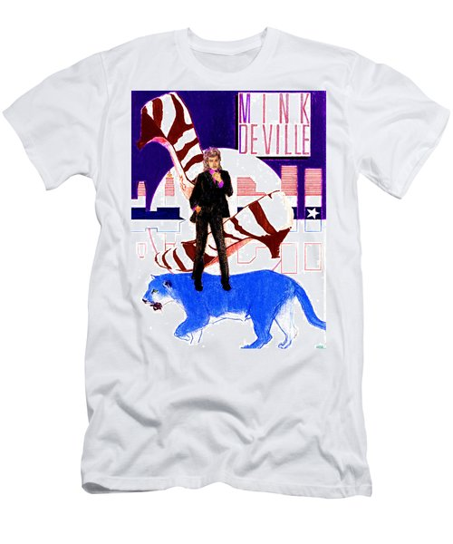 Mink Deville - Le Chat Bleu Men's T-Shirt (Athletic Fit)