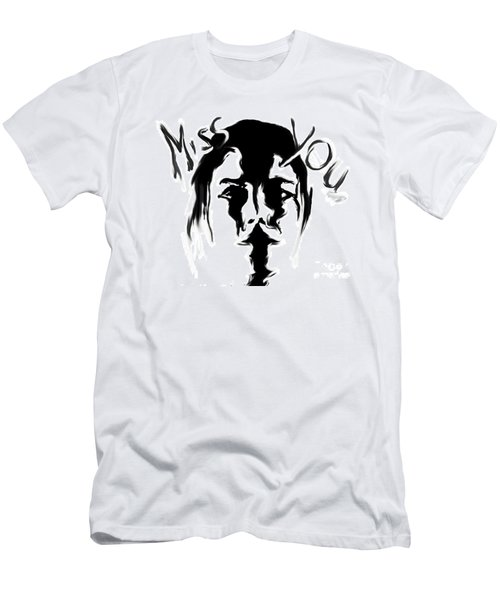 Missing You Men's T-Shirt (Slim Fit) by Tbone Oliver