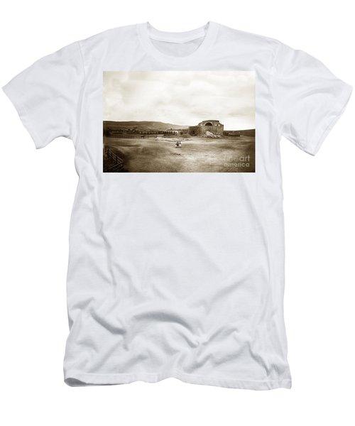 Mission San Juan Capistrano California Circa 1882 By C. E. Watkins Men's T-Shirt (Slim Fit) by California Views Mr Pat Hathaway Archives