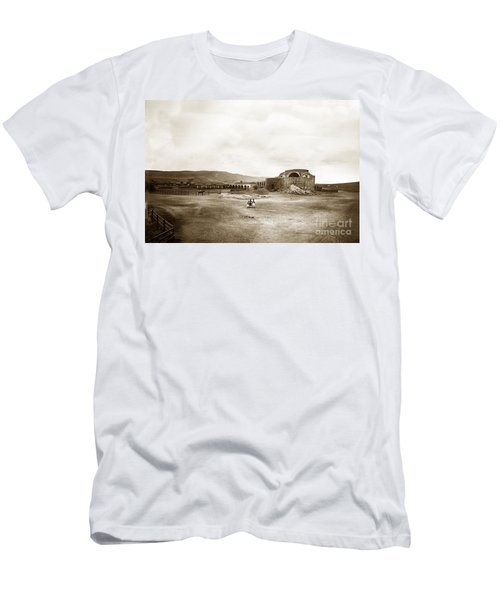 Mission San Juan Capistrano California Circa 1882 By C. E. Watkins Men's T-Shirt (Athletic Fit)