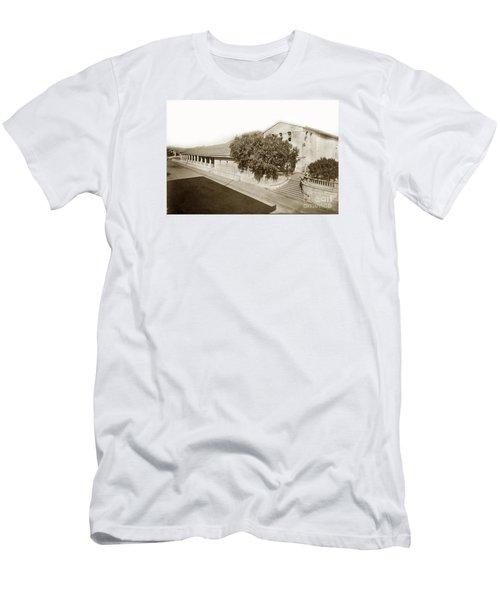 Mission San Luis Obispo De Tolosa California 1880  Men's T-Shirt (Slim Fit) by California Views Mr Pat Hathaway Archives