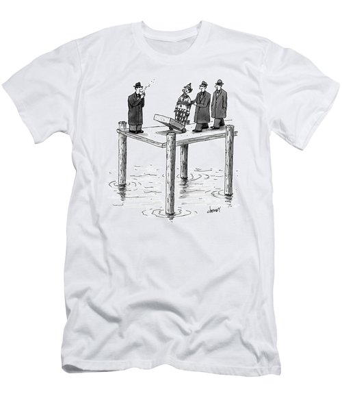 Mobsters Wheel Out A Clown With A Long Block Men's T-Shirt (Athletic Fit)