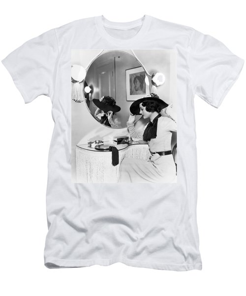 Model In Front Of A Mirror Men's T-Shirt (Athletic Fit)