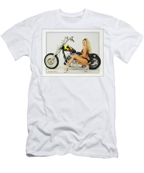 Models And Motorcycles_l Men's T-Shirt (Athletic Fit)
