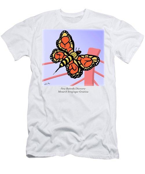 Monarch Stingingus-greaticus Men's T-Shirt (Athletic Fit)