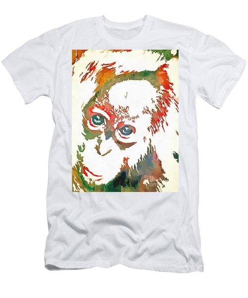 Monkey Pop Art Men's T-Shirt (Slim Fit) by Catherine Lott