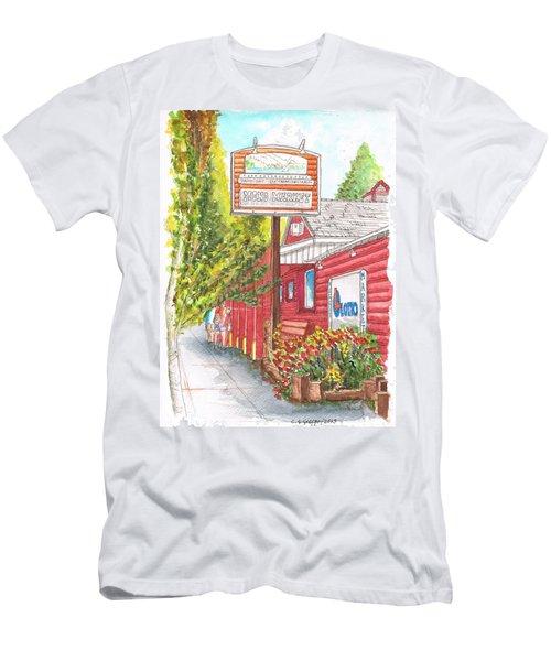 Mono Market Near Mono Lake In Lee Vining-california Men's T-Shirt (Slim Fit) by Carlos G Groppa