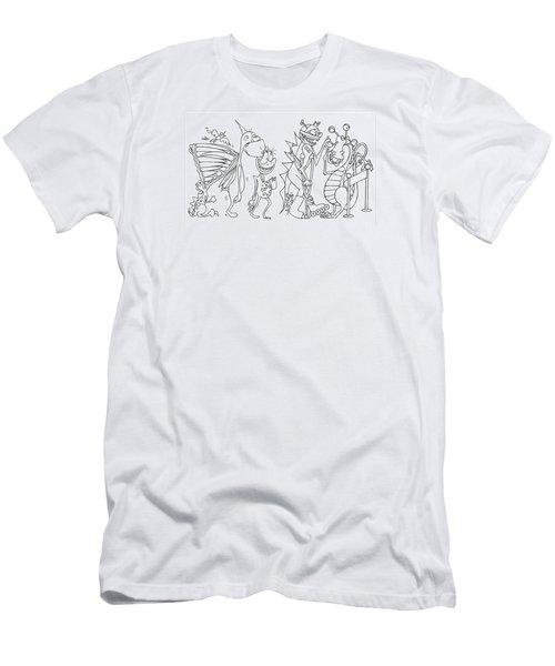 Monster  Queue Men's T-Shirt (Athletic Fit)