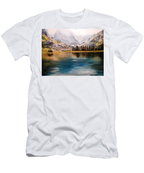 Montana Reflections Men's T-Shirt (Slim Fit) by Patti Gordon