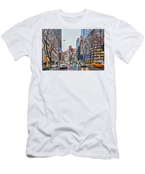 Moody Afternoon In New York City Men's T-Shirt (Athletic Fit)
