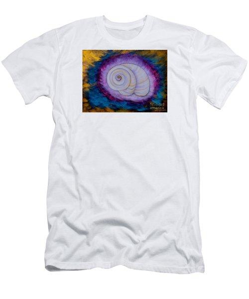 Men's T-Shirt (Slim Fit) featuring the painting Moon Snail by Deborha Kerr