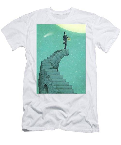 Moon Steps Men's T-Shirt (Athletic Fit)