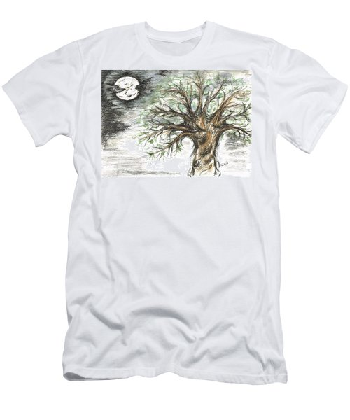 Moon Whisper  Men's T-Shirt (Athletic Fit)