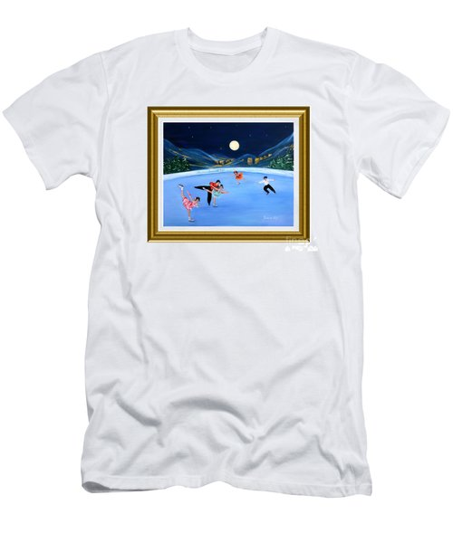 Moonlight Skating. Inspirations Collection. Card Men's T-Shirt (Athletic Fit)