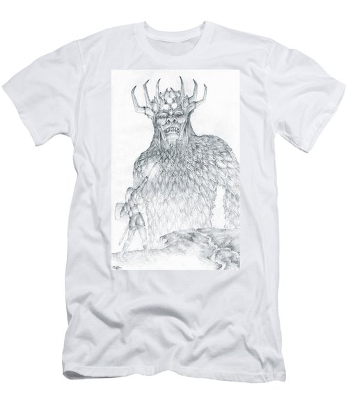 Men's T-Shirt (Slim Fit) featuring the drawing Morgoth And Fingolfin by Curtiss Shaffer