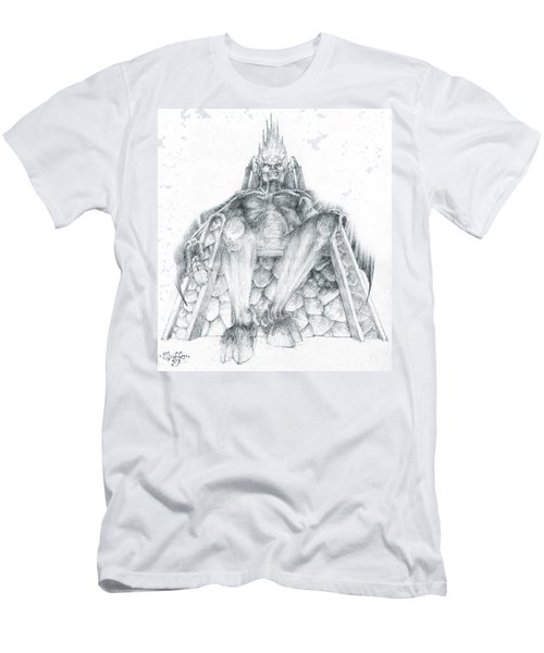 Men's T-Shirt (Slim Fit) featuring the drawing Morgoth Bauglir by Curtiss Shaffer