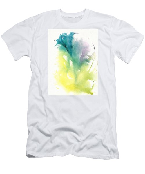 Men's T-Shirt (Slim Fit) featuring the painting Morning Glory Abstract by Frank Bright