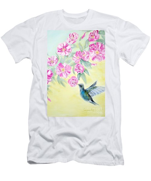 Morning In My Garden. Card Men's T-Shirt (Athletic Fit)