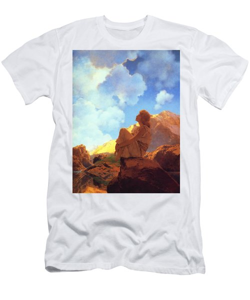 Morning Spring Men's T-Shirt (Slim Fit) by Maxfield Parrish