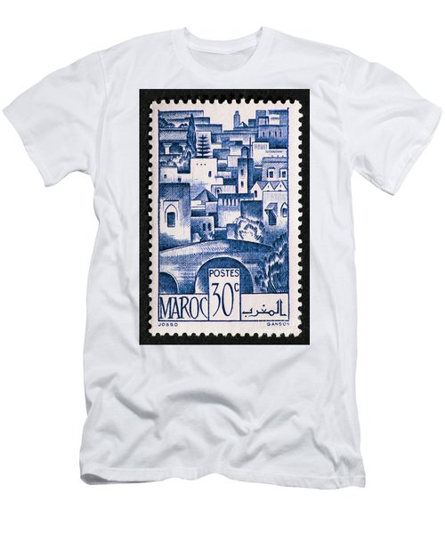 Morocco Vintage Postage Stamp Men's T-Shirt (Athletic Fit)