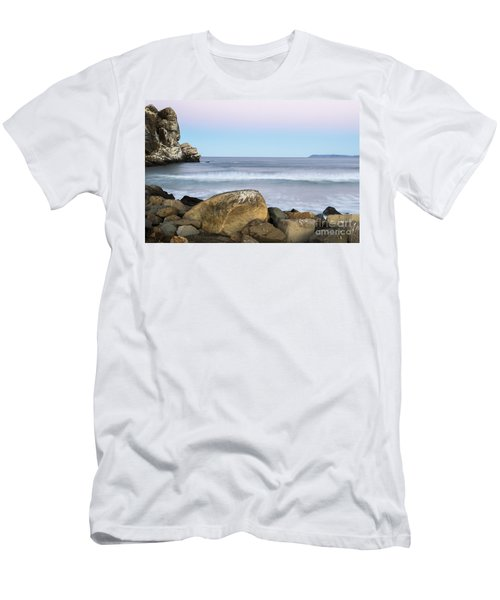 Morro Rock Morning Men's T-Shirt (Athletic Fit)