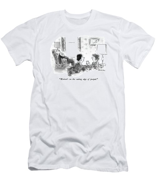 Morton's On The Cutting Edge Of Pooped Men's T-Shirt (Athletic Fit)