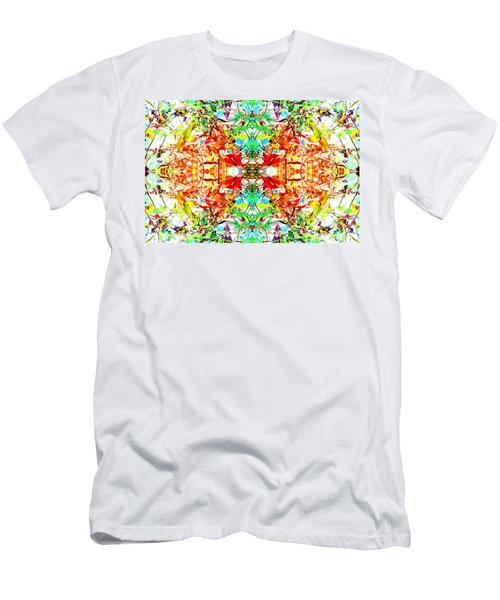 Mosaic Of Spring Abstract Art Photo Men's T-Shirt (Athletic Fit)
