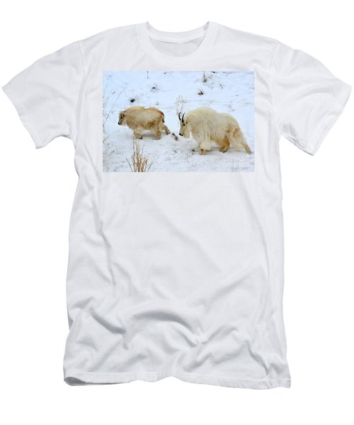 Men's T-Shirt (Athletic Fit) featuring the photograph Mother And Child by Dorrene BrownButterfield