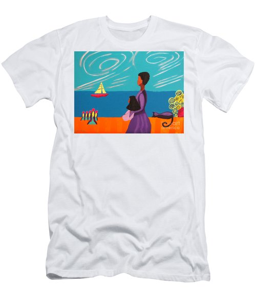 Mother And Daughter Men's T-Shirt (Slim Fit) by Anita Lewis