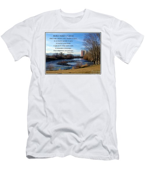 Men's T-Shirt (Slim Fit) featuring the photograph Mother Natures Canvas by Bobbee Rickard
