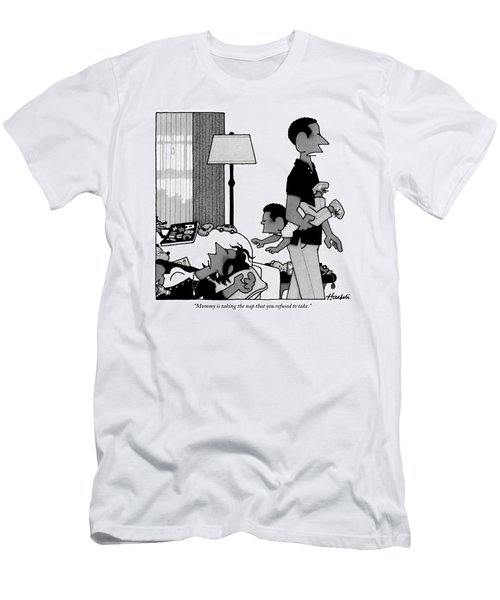 Mother On Sofa Men's T-Shirt (Athletic Fit)