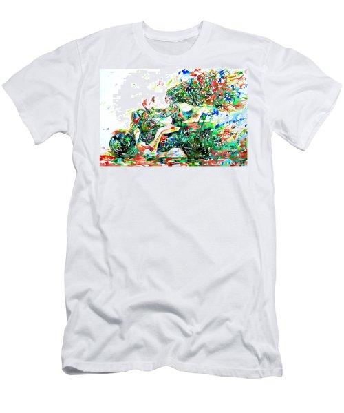 Motor Demon Running Fast Men's T-Shirt (Athletic Fit)